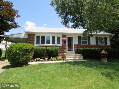 Reisterstown Single Family Home For Sale: 311 Highfalcon Road