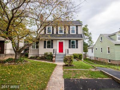 Catonsville Single Family Home For Sale: 611 Hilltop Road