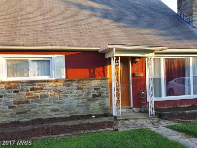 Baltimore Single Family Home For Sale: 1117 Orems Road