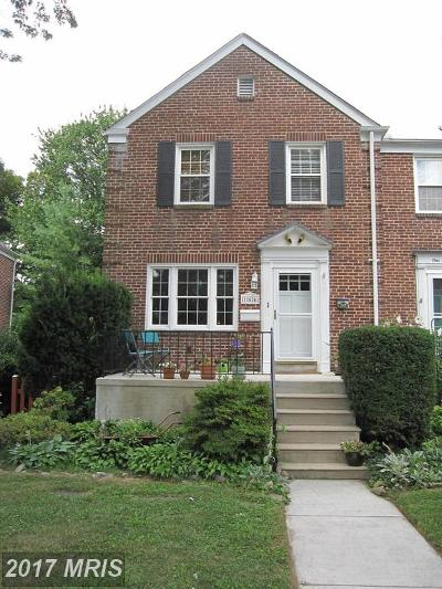 Baltimore Townhouse For Sale: 164 Stanmore Road