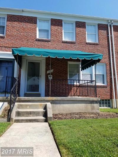 Towson Townhouse For Sale: 1872 Edgewood Road