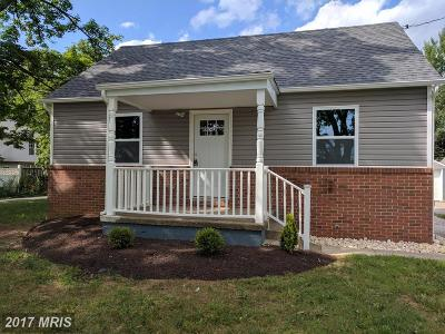 Randallstown Single Family Home For Sale: 8606 Winands Road