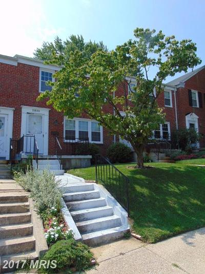 Baltimore Townhouse For Sale: 1513 Dellsway Road