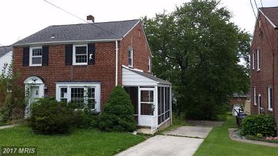 Baltimore Single Family Home For Sale: 8749 Old Harford Road