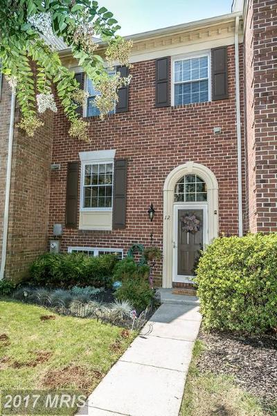 Cockeysville Townhouse For Sale: 12 Valley Crossing Circle