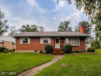 Lutherville Timonium Single Family Home For Sale: 116 Belfast Road