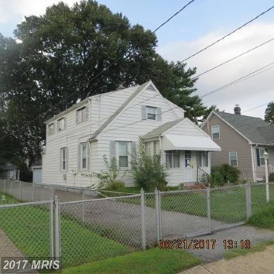 Baltimore MD Single Family Home For Sale: $85,500