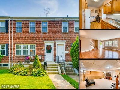 Towson Townhouse For Sale: 8417 Greenway Road