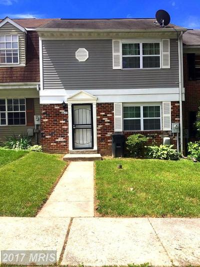 Randallstown Townhouse For Sale: 9617 Axehead Court