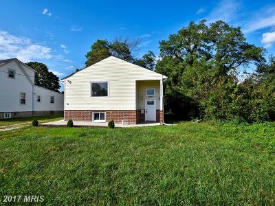 Catonsville Single Family Home For Sale: 6036 Old Frederick Road