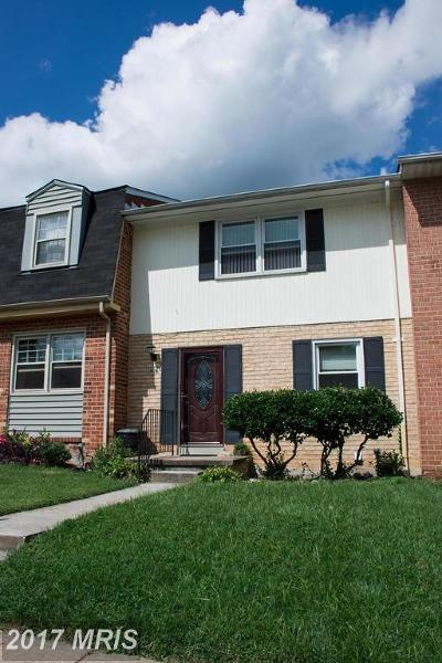 Reisterstown Townhouse For Sale: 406 Fox View Court