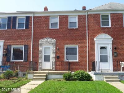 Baltimore Townhouse For Sale: 358 Grovethorn Road