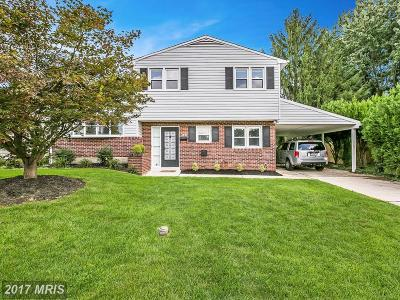 Catonsville Single Family Home For Sale: 323 Wessling Circle