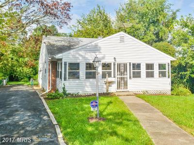 Halethorpe Single Family Home For Sale: 608 Washington Avenue