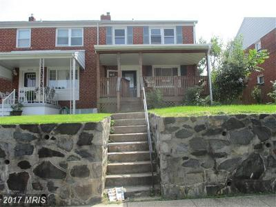 Baltimore MD Townhouse For Sale: $79,000