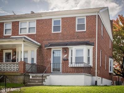 Baltimore Townhouse For Sale: 815 Marlyn Avenue N