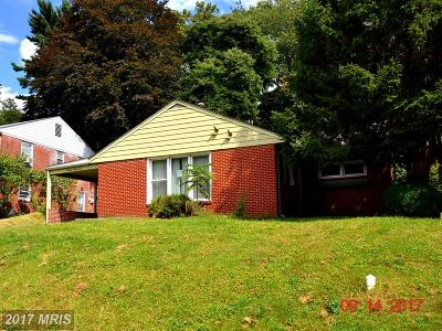 Baltimore Single Family Home For Sale: 1322 Glendale Road