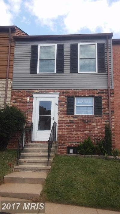 Baltimore Rental For Rent: 51 Wyegate Court