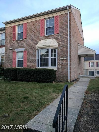 Baltimore Townhouse For Sale: 116 Courtland Woods Circle