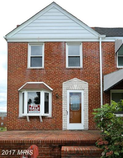 Baltimore Townhouse For Sale: 1801 Dunmere Road