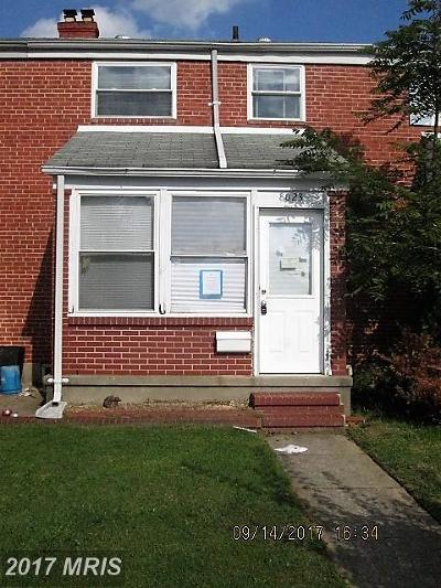 Baltimore Townhouse For Sale: 8023 Wallace Road