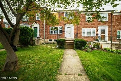 Baltimore Townhouse For Sale: 1402 Kirkwood Road
