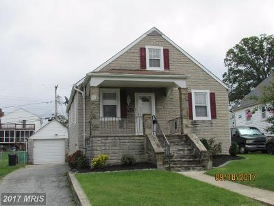 Baltimore MD Single Family Home For Sale: $184,900