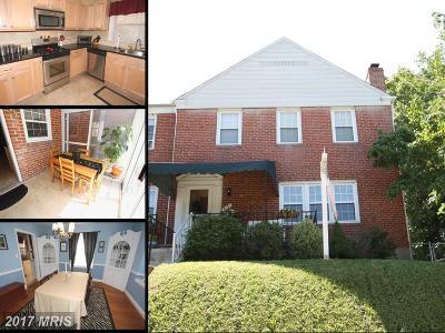 Towson Townhouse For Sale: 8101 Pleasant Plains Road