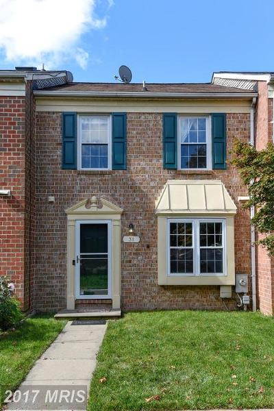 Owings Mills Townhouse For Sale: 31 Wellspring Circle