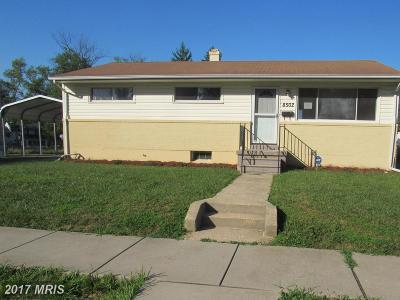 Randallstown Single Family Home For Sale: 8502 Fieldway Drive