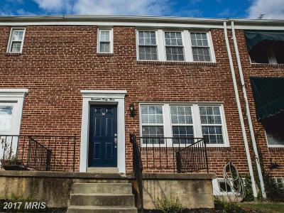 Towson Townhouse For Sale: 1943 Edgewood Road