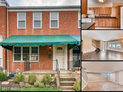Towson Townhouse For Sale: 1922 Edgewood Road