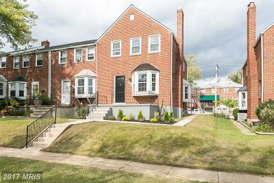 Towson Townhouse For Sale: 1618 Aberdeen Road