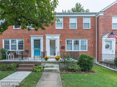 Towson Townhouse For Sale: 1427 Putty Hill Avenue