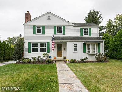 Baltimore Single Family Home For Sale: 805 Joppa Road