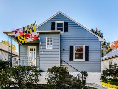 Baltimore Single Family Home For Sale: 2707 Maple Avenue