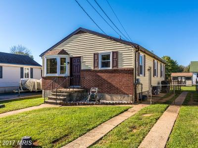Baltimore MD Single Family Home For Sale: $185,000