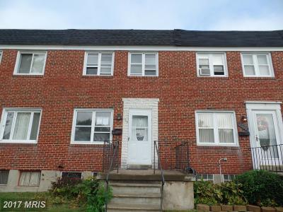 Baltimore MD Single Family Home Sale Pending: $88,000