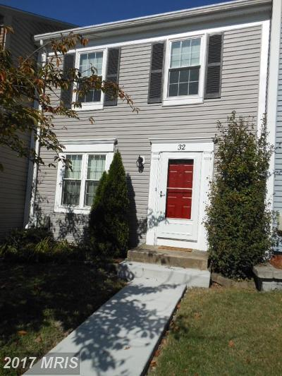 Perry Hall Townhouse For Sale: 32 Silver Hill Court