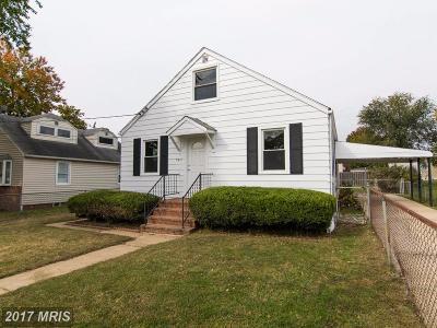 Single Family Home For Sale: 7611 Poplar Road