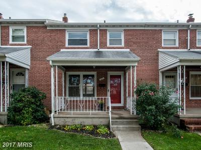 Catonsville Townhouse For Sale: 817 Southridge Road