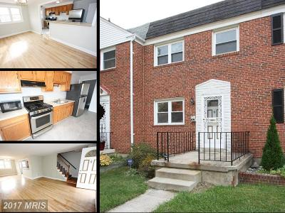 Parkville MD Townhouse For Sale: $150,000