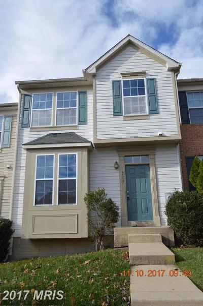 Owings Mills Townhouse For Sale: 9327 Owings Choice Court