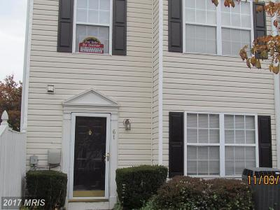 Owings Mills Townhouse For Sale: 61 Royalty Circle
