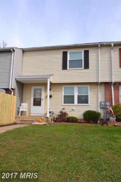 Reisterstown Townhouse For Sale: 12325 Boncrest Drive