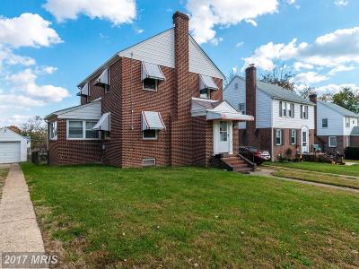 Baltimore Single Family Home For Sale: 1210 Circle Drive