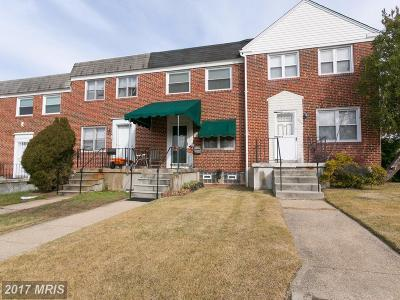 Carney, Cub Hill, Hardford Park, Harford Park, Hillendale, Hillendale Farms, Ridgeleigh, Satyr Green, Seven Courts Townhouse For Sale: 7803 Hillsway Avenue