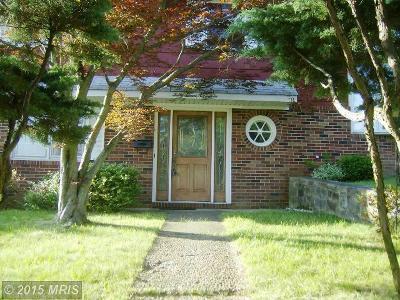 Halethorpe Single Family Home For Sale: 4717 Ruby Avenue