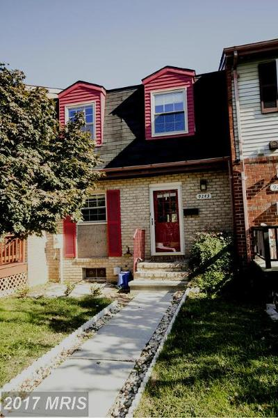Owings Mills Townhouse For Sale: 9243 Countess Drive