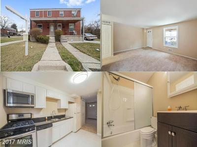 Randallstown Duplex For Sale: 3700 Trent Road